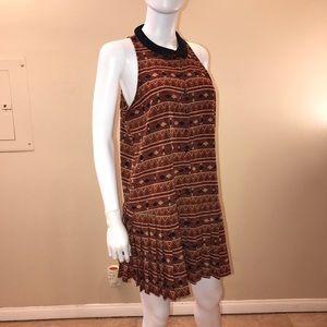 Mustard Seed Sleeveless Mini Dress Aztec Print
